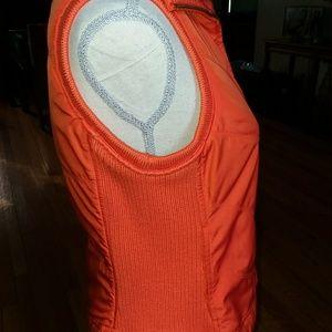 Tommy Hilfiger Jackets & Coats - Tommy Hilfiger orange ribbed vest PetiteM